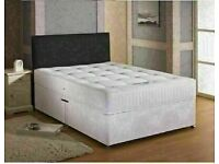 🔵💖🔴NEW DISCOUNT OFFER🔵💖🔴DIVAN SINGLE-DOUBLE-SMALL DOUBLE & KING SIZE BED BASE w MATTRESSES