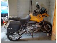 Unregistered BMW motorbike for parts