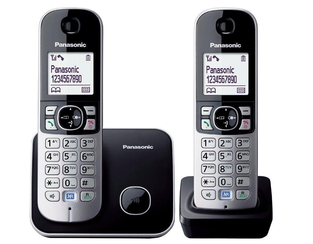 Panasonic KX-TG6812EB Twin DECT Cordless Telephone Set (Good