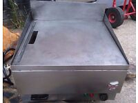 COMMERCIAL S/STEEL ELECTRIC GRIDDLE FLAT GRILL 3KW JUST PLUG-IN FOR CAFE TAKEAWAY DINER KEBAB HOTEL