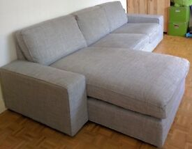IKEA Kivik Sofa and Chaise Lounge, Isunda Grey, Perfect Condition- 6 months old