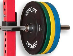 eSPORT COLOR LB TRAINING BUMPER PLATES Complete Set 8 plates