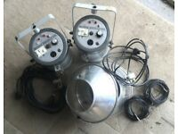 Vintage Bowens Monolite 400 Studio Flash x 2. Working order with leads & stands.