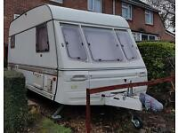 Swift Challenger 4 berth fixed bed caravan - complete setup ready for holidaying!