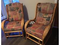 Vintage wicker rattan chairs