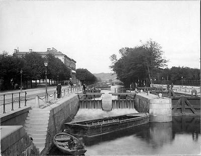 Old Photo. Gothenburg, Sweden. Lock