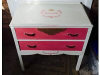 Chest Of Drawers Hand Painted
