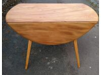 ERCOL 384 Round Drop Leaf Table