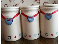 Kitchen storage jars.