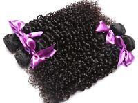 Malaysian Curly Hair Weave 100% Human Hair Bundles Natural Color Non-Remy 8-28