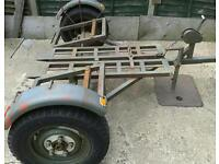 "EX MILTARY TOWING DOLLY CAR RECOVERY TAKES UP TO 5'10"" WHEEL BASE"
