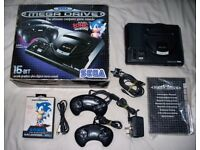 Boxed sega megadrive with controllers, instructions and game!!!
