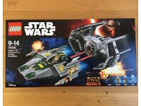 Lego Vader Tie vs AWing Star Wars new sealed 75150 Darth a-wing