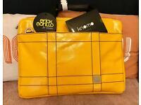 """Knomo Lincoln 15"""" Yellow Bag - New"""