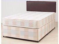 BRAND NEW DOUBLE DIVAN DEEP QUILT BED !! BED BASE + DEEP QUILT MATTRESS