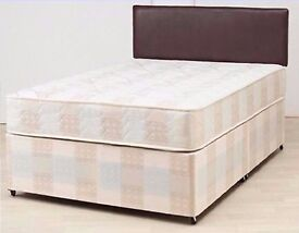 BEAT ANY PRICE ! DOUBLE DIVAN BED WITH COMFORTABLE MATTRESS !FREE DELIVERY