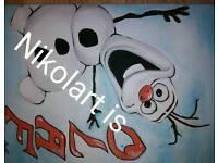 Olaf paint on canvas