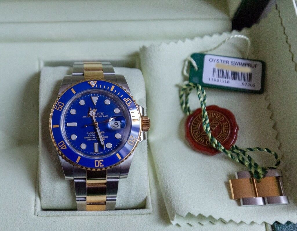 42268eea0d Rolex Submariner Blue 116613LB Full Set