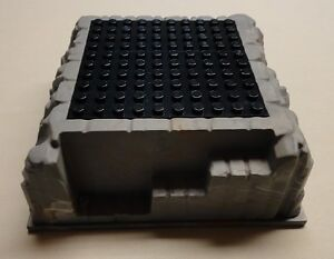 x1 NEW Lego Raised Rock Baseplates Base Plates Gray with BLACK TOPS