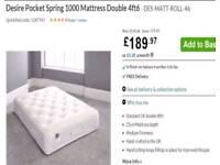 NEW Somnier Beds Double Mattrese