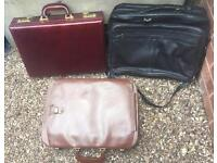 3 Vintage cases all leather