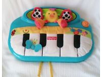 PEEK-A-BOO Babies PIANO COT TOY By Fisher Price in VGC.