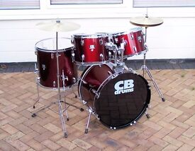 COMPLETE RED CB DRUM KIT