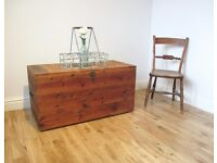 Vintage Pine Storage Chest / Blanket Box / Coffee Table