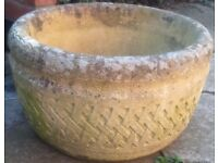 STONE PLANT CONTAINER FOR PATIO