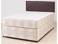 SAME DAY EXPRESS DELIVERY ALL OVER LONDON ORDER NOW ROYAL DOUBLE DEEP QUILT BASE+MATTRESS BRAND NEW