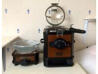 COFFEE BEAN HOME ROASTER. S-100 CR. PLUS S-100C COFFEE BEAN COOLER.