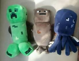 Minecraft plush toys x3