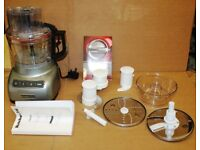 KitchenAid 5KFP0925BOB 2.1 Litre Food Processor -Silver (One time Used)