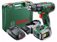 BOSCH 18v Combi Drill PSB 18 Li-2 with 2x 2.0Ah batteries, case/charger & LED. FREE UK SHIPPING