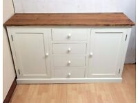 SOLID WOOD White Painted SIDEBOARD (2 Door/Cupboard + 4 Drawer ) + FREE LOCAL DELIVERY
