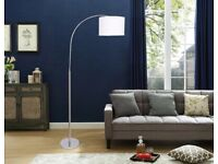New Flat Pack Floor Lamp Curved Tall Living Bed Light