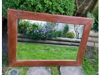 Large Pine Overmantle Mirror. Modern