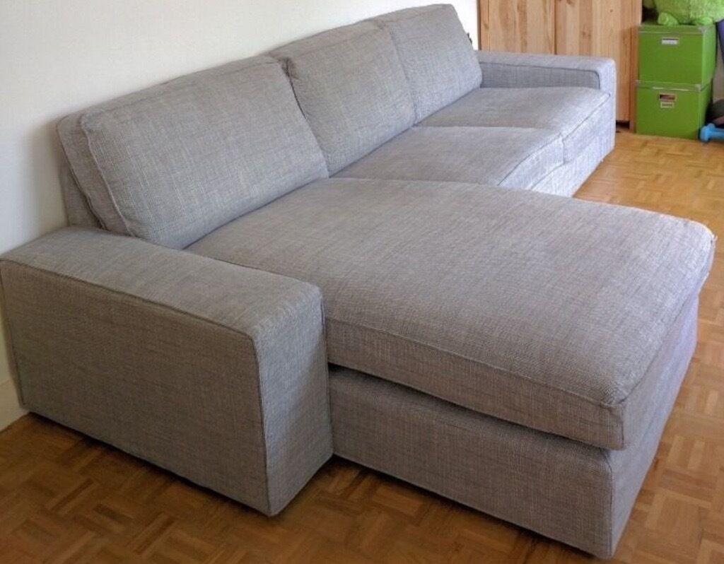 IKEA Kivik Sofa And Chaise Lounge, Isunda Grey, Perfect Condition  6 Months  Old