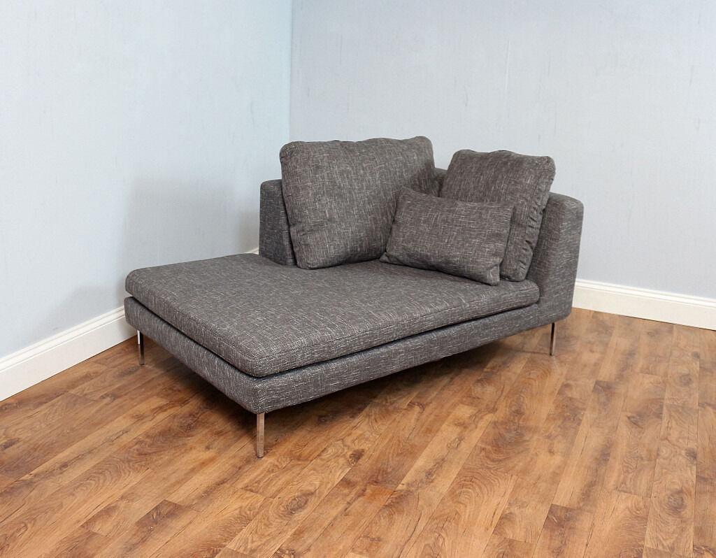 Delightful Small Corner Sofa Part - 3: Modern Grey Day Bed, Small Corner Sofa, Chaise, Retro Style