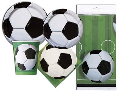 Soccer Ball Themed Birthday Party Plates, Napkins, cups, Tablecloth Serves - Soccer Themed Birthday Party