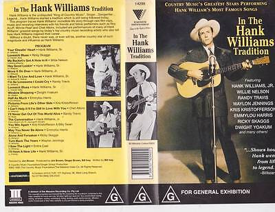 HANK WILLIAMS IN THE TRADITION   VHS PAL VIDEO A RARE