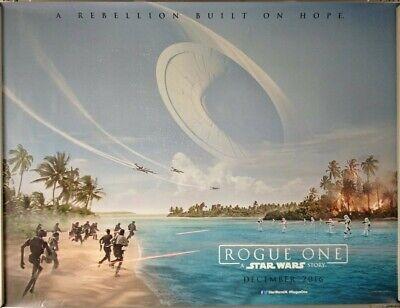 ROGUE ONE A STAR WARS STORY 2016. ORIGINAL CINEMA QUAD POSTER. Felicity Jones