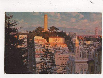 Tower Telegraph Hill (Telegraph Hill & Coit Tower San Francisco USA Postcard 772a)