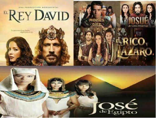 COMBO 5 SERIES BIBLICAS COMPLETAS:JOSE DE EGIPTO, JOSUE Y LA TIERRA PROMETIDA, E