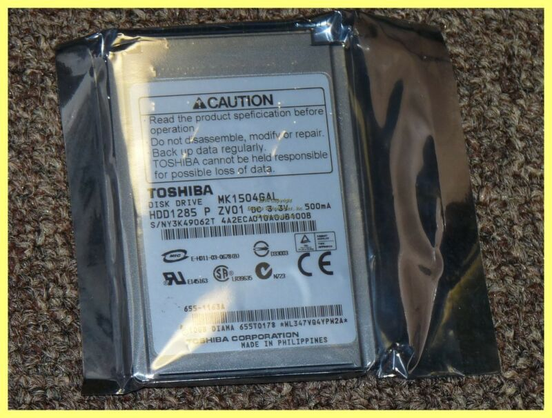 "TOSHIBA 1.8"" 10GB 4200RPM HARDDRIVE MK1504GAL 655-1163A IPOD PLEASE SEE PHOTOS"