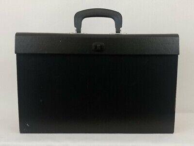 19 Pocket Black Portable Expanding File Folder Organizer Case Accordion Handle
