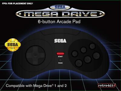 Retrobit - SEGA Mega Drive manette filaire 6 boutons - Connexion d'origine...