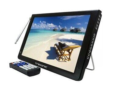 "Trexonic 12"" Widescreen Portable LED TV Rechargeable HDMI SD USB VGA MMC"