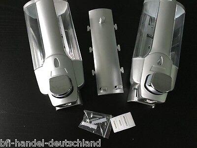 2-fach Seifenspender Duschgelspender Wandhalterung Flüssigseife Duschgel NEU