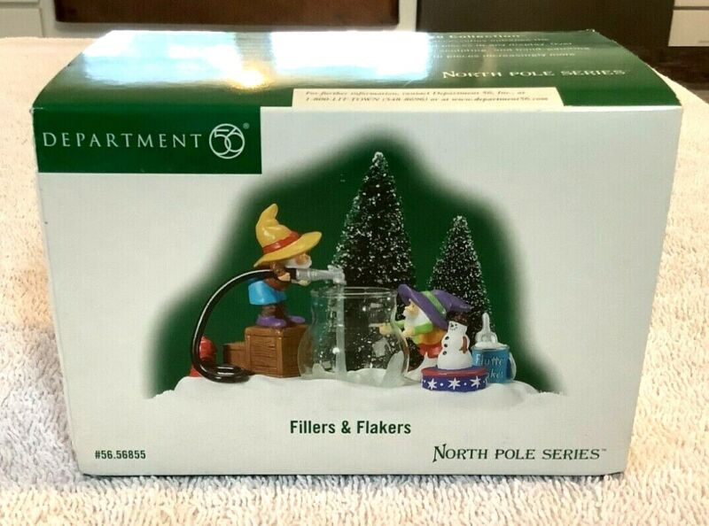 Department Dept 56 North Pole Series #56855 FILLERS & FLAKERS 2003 Lightly Used